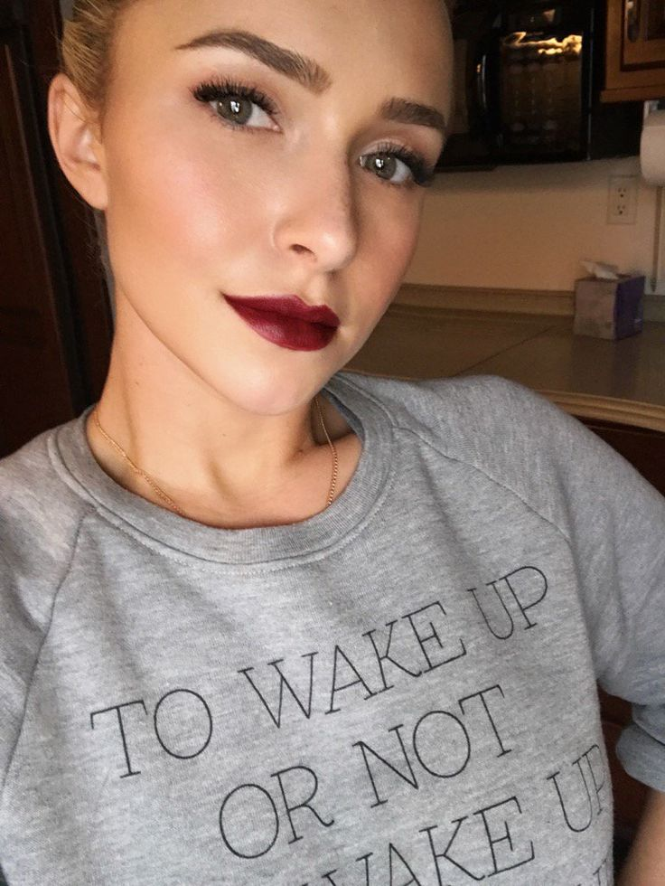 Hayden Panettiere on Twitter January 12, 2017, wearing a Bio-Cam sweatshirt. #style #celebstyle #sweatshirt #twitter