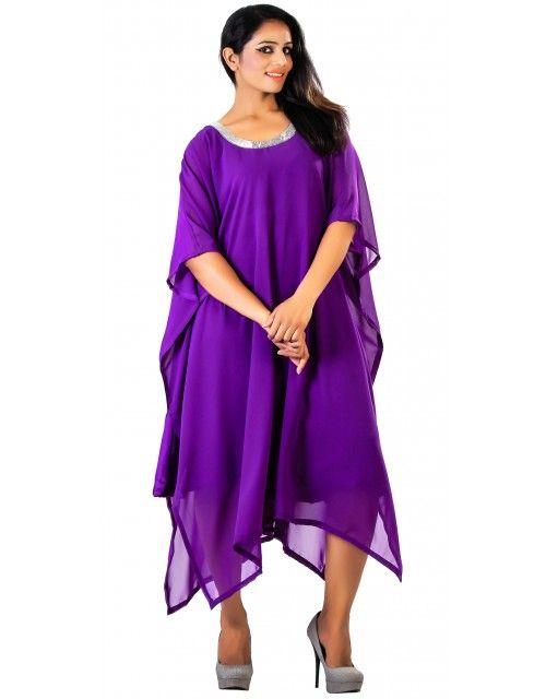 Dubai Beach Kaftan Tunic - Purple