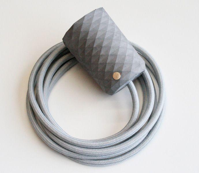 concrete pendant dark grey grey