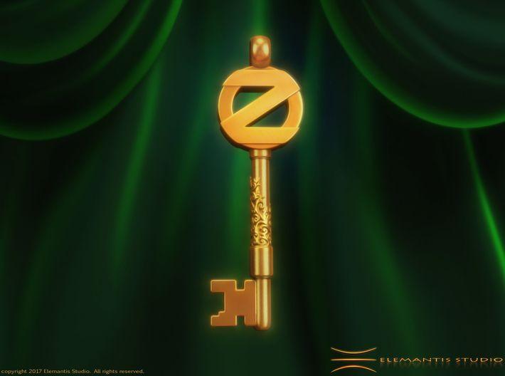 Return to OZ, Emerald City Key Pendant/ Keychain 3d printed. #ReturnToOz, #WizardOfOz