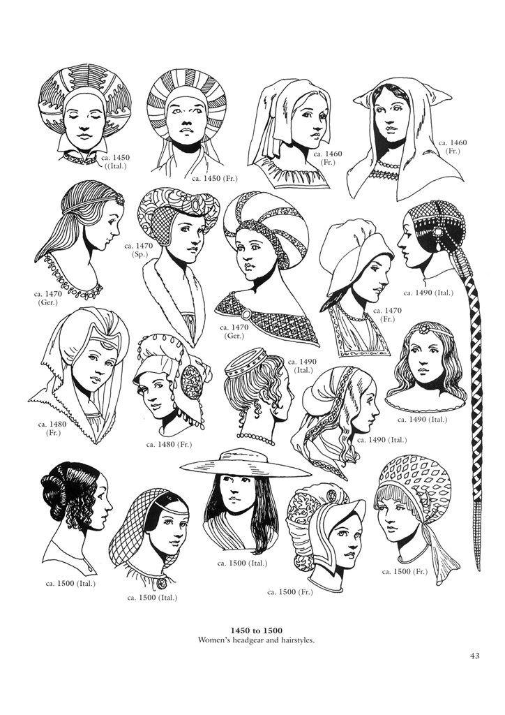 Renaissance and Reformation History coloring sheet.  Renaissance Fashions. Pinned by www.minivanmaverick.com
