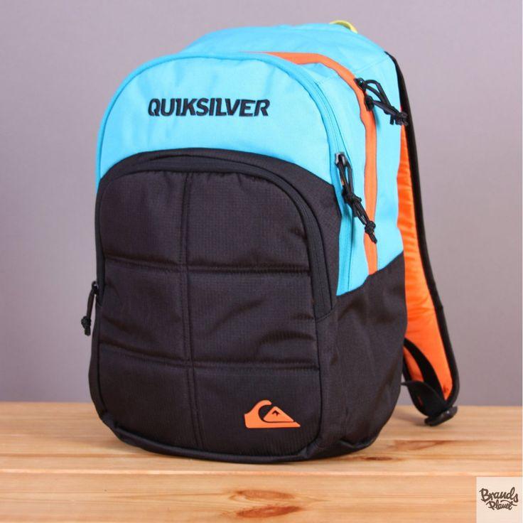 Mały plecak szkolny, turystyczny 20l Quiksilver Burst Cyan Reef / www.brandsplanet.pl / #quiksilver