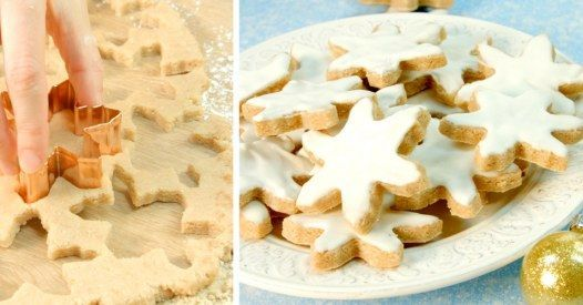 Zutaten: 100 g Puderzucker 100 g gemahlene Mandeln 200 g gemahlene Nüsse 2 Eiweiß 1 TL Zimt 1 Spritzer Zitronensaft Zubereitung...