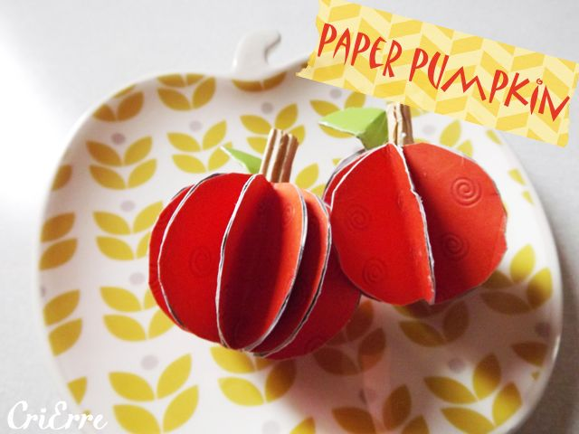 Cri Erre handmade: Zucche decorative - Paper pumpkin #halloween #pumpkin #fall #orange #paper #papercraft