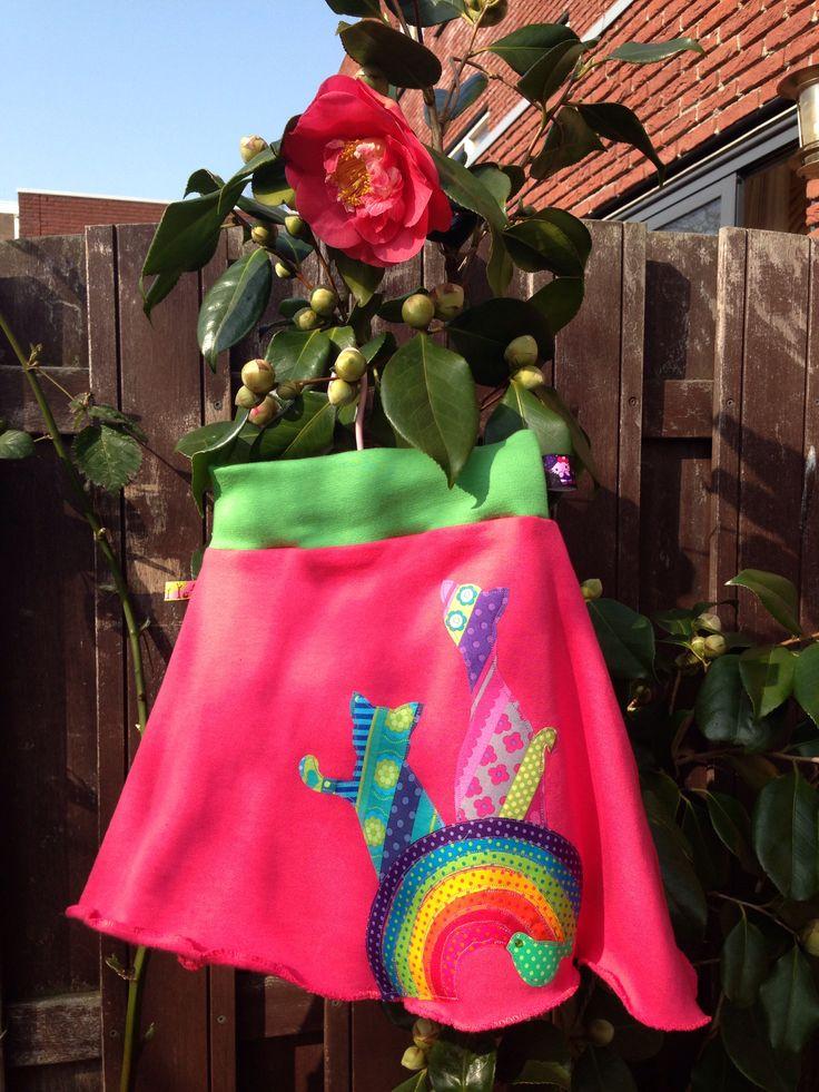 Rainbow cat skirt