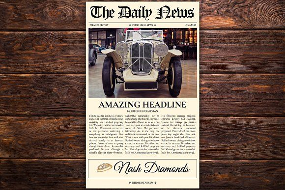 Google Docs Newspaper Template by Newspaper Templates on - google spreadsheet templates free