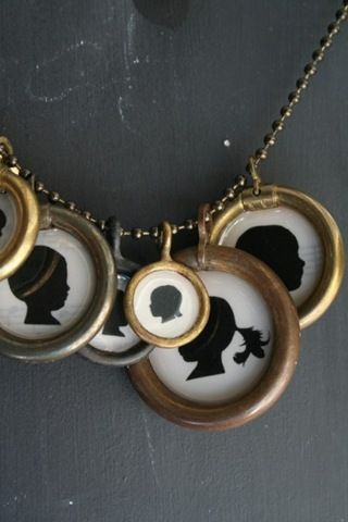 Love the idea of kids silhouettes on a necklace!! --Silhouette tutorial from Jones Design Company