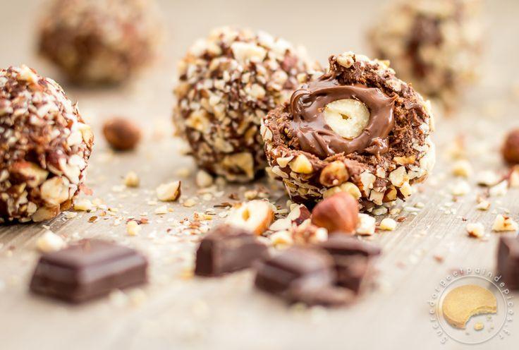 Comme un Ferrero : Rochers au chocolat au lait, praliné et noisettes - Sucre d'Orge et Pain d'Epices