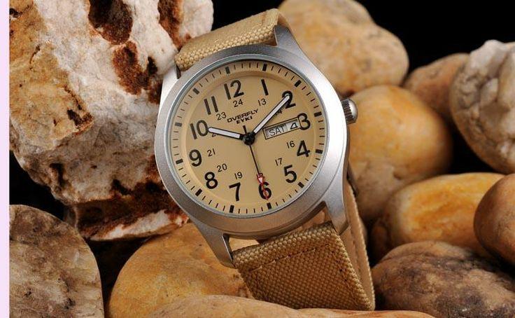 Armbandsur Eyki - Army Natoband (biege) #eyki #kimio #sportklocka #sportklockor #armbandsur #klocka #klockor #herrklocka #herrklockor #runns #watch #watches #nato #natoband #overfly