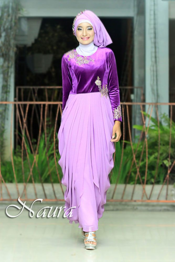 27 Best Gamis Pesta Modern Images On Pinterest Hijab Styles Dress Muslimah And Elastic Satin