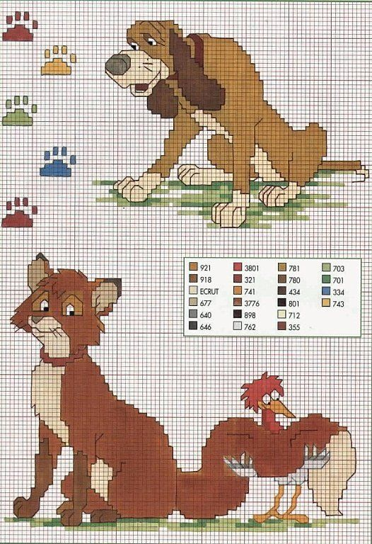 1000 images about cross stitch disney fox and the hound - Compritas para los peques ...