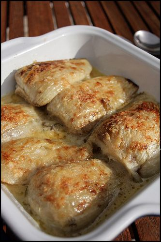 Fenouil braisé sauce parmesan de Simon Hopkinson
