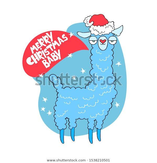 Merry Christmas Baby New Year Lama: стоковые изображения в ...