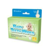 Baby Teeth Wipes (12 Wipes) by Adwin Korea Corp.. $3.99. Baby Teeth Wipes are disposable banana flavored oral cleaning treatment.   ?Baby Teeth Wipes, soft-embossed & finger-shaped wipes, are disposable oral cleaning treatment for baby. Each wipe is individually hygienically wrapped and coated with a unique cleansing solution containing Xylitol.  ?Baby Teeth Wipes can be used whenever and wherever you need to clean your baby's teeth and can't brush.  ?Best for use after meals...