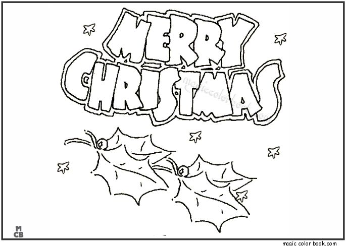 Christmas Coloring Printable Pages For Merry