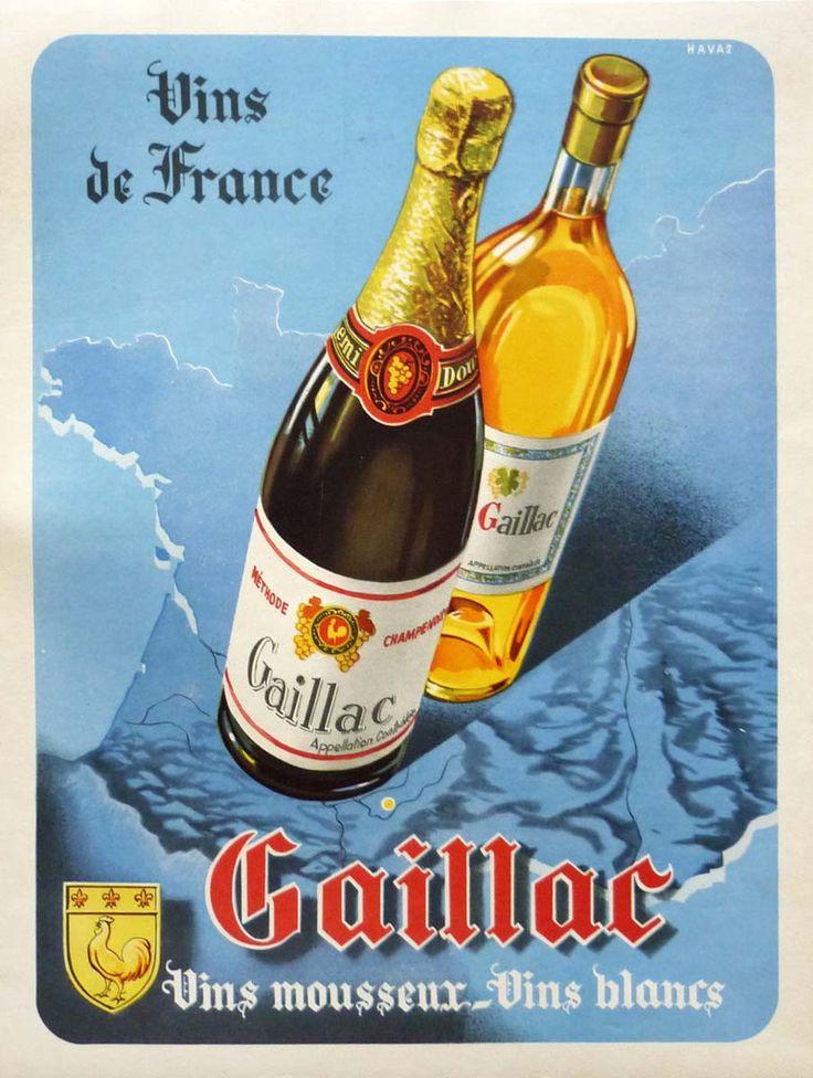 Gaillac - Vins de France - 1950 - Vignoble de Gaillac près de Brin de Cocagne -  chambre d'hôtes écologique de charme dans le Tarn près d'Albi - Brin de Cocagne