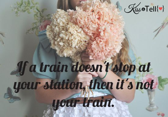 if a train doesnt stop at your station then its not your train