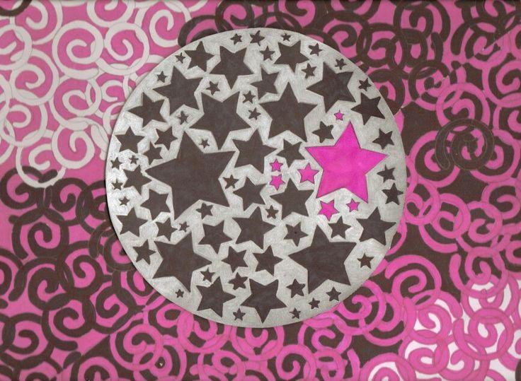 stars and swirls pink