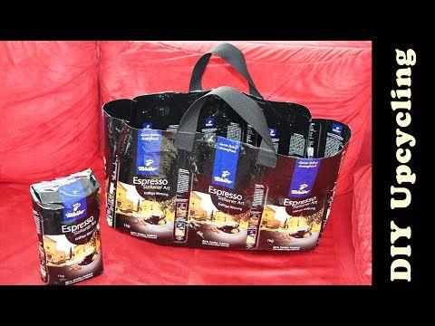 Tasche aus Tchibo - Kaffeeverpackung nähen   Upcycling & DIY - YouTube