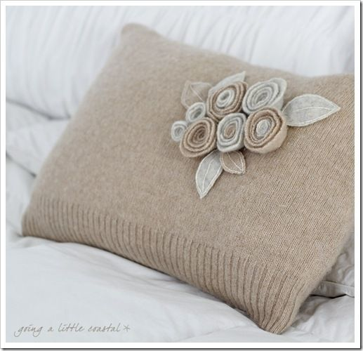 up cycled ~ sweater pillow