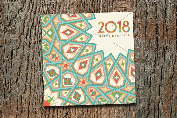 New Year Greeting Card Creative Card Templates Pinterest - new year greeting card template