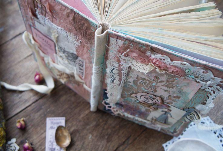 Handmade by Smilla: Чердачный пыльно-розовый блокнот