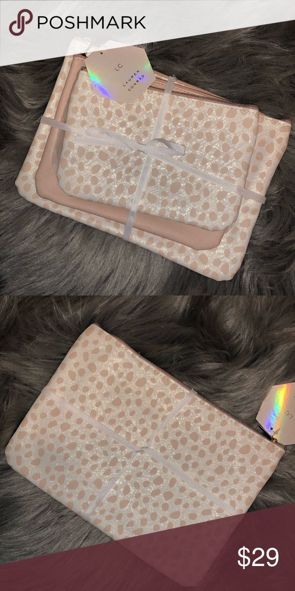 LC Lauren Conrad Set of 3 Makeup Bags NWT Lc lauren
