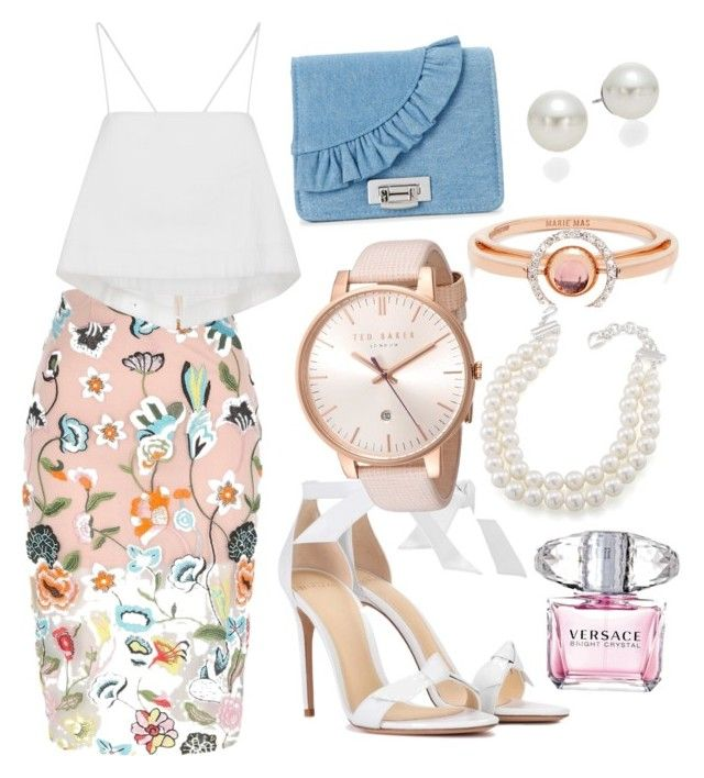 """""""ready for shop"""" by oanagabriela on Polyvore featuring River Island, A.L.C., Alexandre Birman, La Regale, Ted Baker, Marie Mas, Carolee, AK Anne Klein and Versace"""