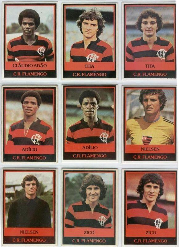 Flamengo - Em 1978 o chiclete Ping Pong lançou a coleção Futebol Cards.