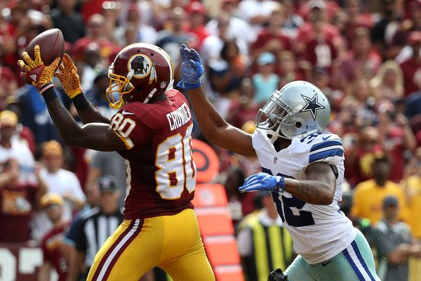 Orlando Scandrick Photos Photos - Wide receiver Jamison Crowder #80 of the Washington Redskins scores a third quarter touchdown past cornerback Orlando Scandrick #32 of the Dallas Cowboys at FedExField on September 18, 2016 in Landover, Maryland. - Dallas Cowboys v Washington Redskins