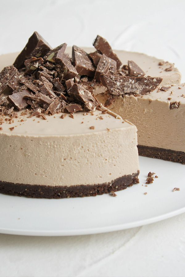 This Toblerone Cheesecake Slice by jodi hay has us weak at the knees.