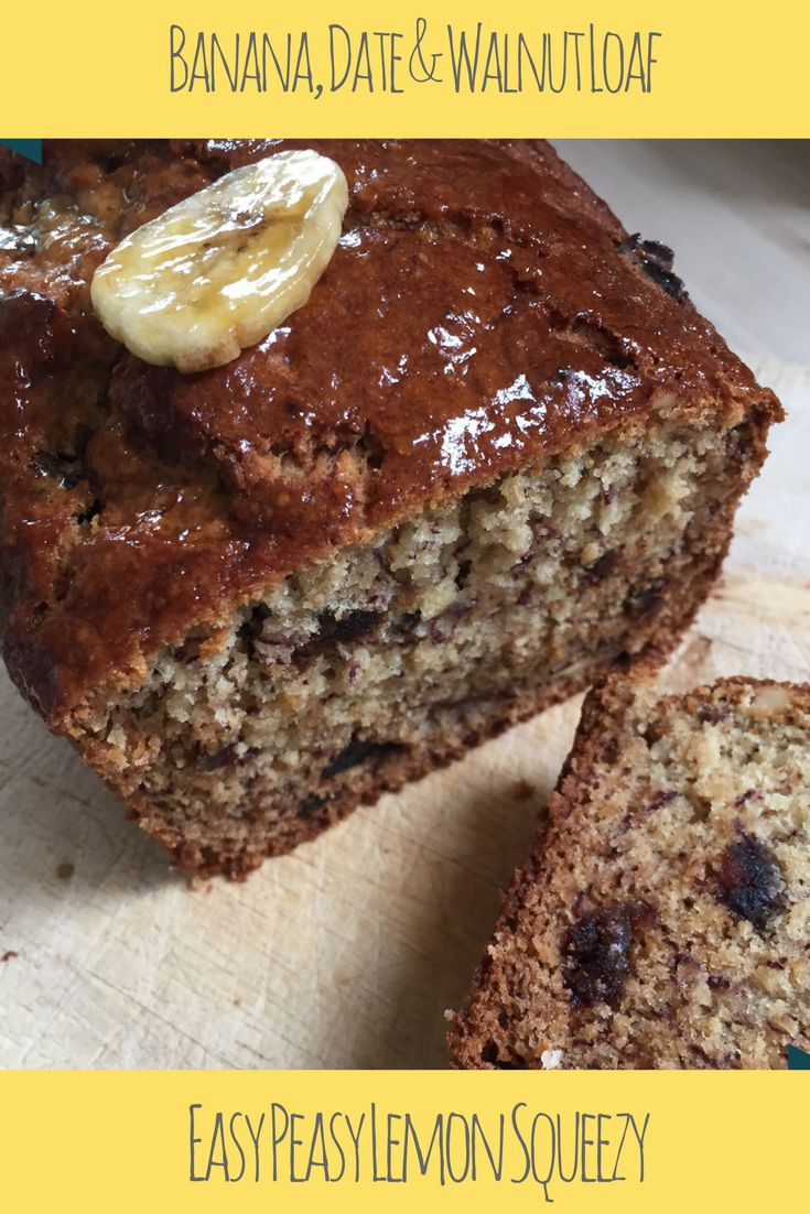Banana, Date and Walnut Loaf  Yummy Cake - Super Fuel!