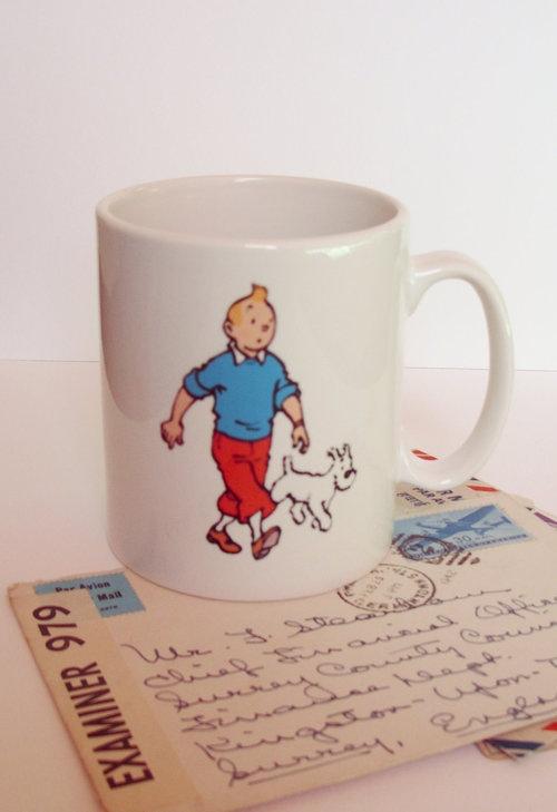 Tintin Mug <3 and postcard • Herge, Tintin et moi