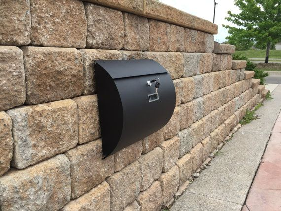 mpb1402b semi curve lockable mailboxes painted black stainless steel mail boxes modern urban style - Lockable Mailbox