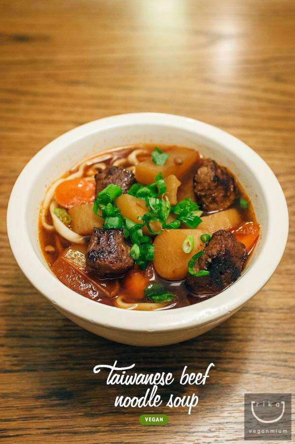 #Vegan Taiwanese Beef Noodle Soup 牛肉麵   vegan miam