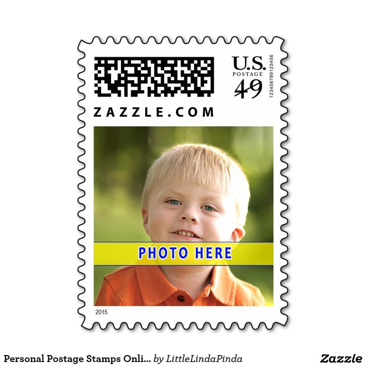 Fun Personal Postage Stamps with YOUR PHOTO and Choose Denomination (All Stamp Prices will Update).  Official USPS photo stamps. CLICK HERE: http://www.zazzle.com/personal_postage_stamps_online_new_49_cent_stamps-172464052107647104?rf=238147997806552929 I have templates for Horizontal Stamps, some framed or with and without your Name or Text. MORE HERE: http://www.zazzle.com/littlelindapinda/gifts?cg=196011228045420884&rf=238147997806552929 Contact Linda on the Zazzle product page.
