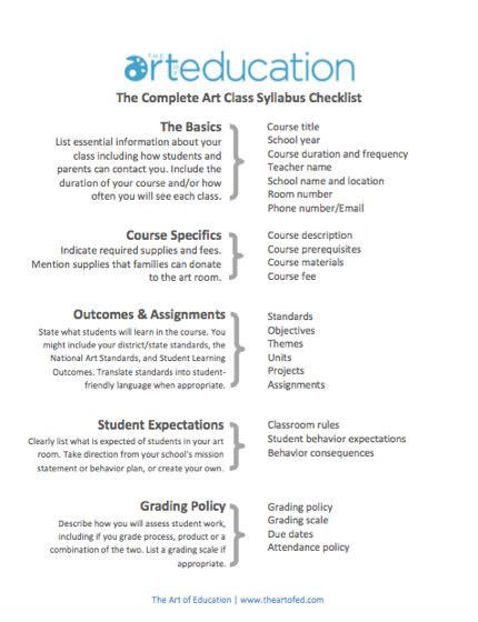 Create a Syllabus That Your Students Will Actually Want to Read - Click to download free syllabus checklist!