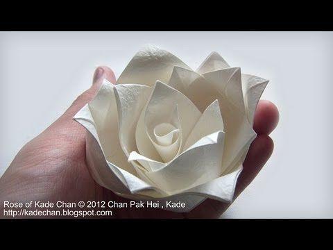 Rosa feita em tira