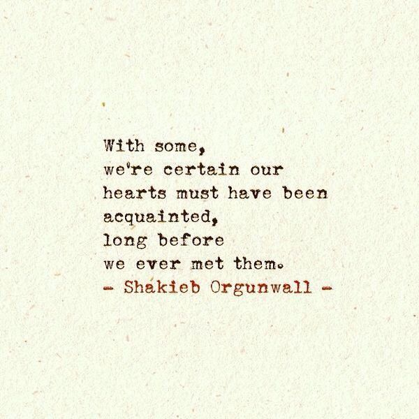 Two hearts that are meant for each other, do know each other, even if they have never met in person.