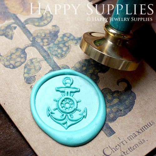 1pcs Anchor Gold Plated Wax Seal Stamp by HappyJewelrySupplies
