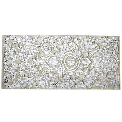 Champagne Mirrored Mosaic Damask Wall Panel | Home decor ...