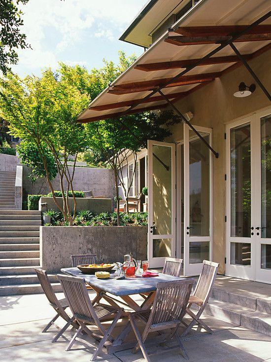 Outstanding Patio Door Canopy Design: Contemporary Patio With Beautiful Patio  Door Canopy Design With Custom