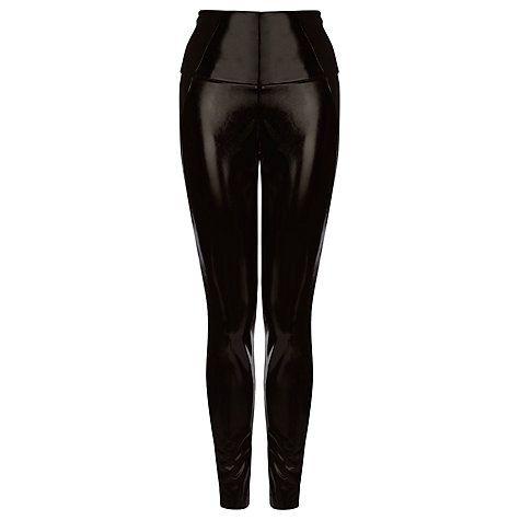 Buy Karen Millen Faux Leather Leggings, Black Online at johnlewis.com