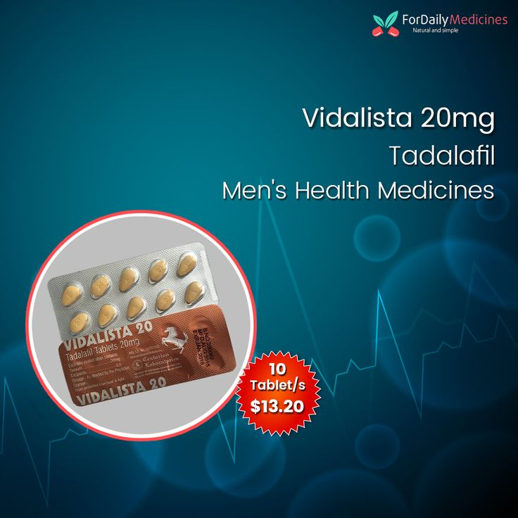 Buy #menshealth medicine #Tadalafil (#Vidalista20mg) online : Available online at #ForDailymedicine https://www.fordailymedicine.com/vidalista-20mg.html
