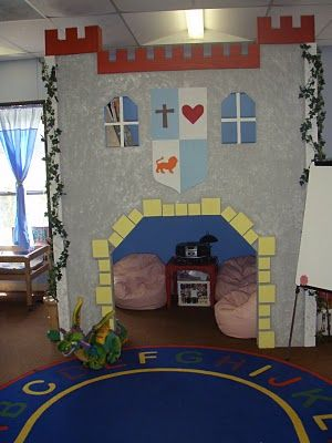 Check out this castle in the classroom.  That is just awesome!
