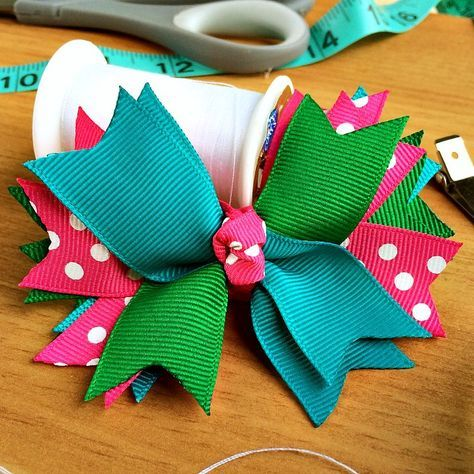 Learn how to make hair bows out of ribbon with this easy tutorial! Use up leftover ribbon and create personalized hair bows in any color you love.