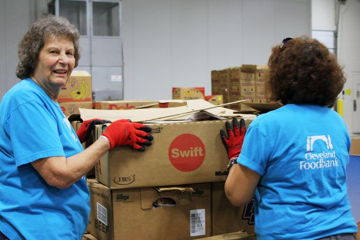 volunteering at the cleveland foodbank is easier than