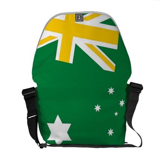Australian Sporting Flag Messenger Bag
