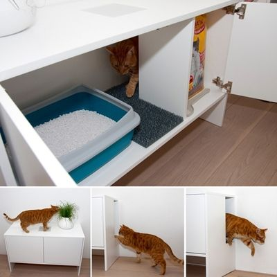 Urbancatdesign des chats des meubles et du style meubles placards et fr re - Meuble litiere chat ...