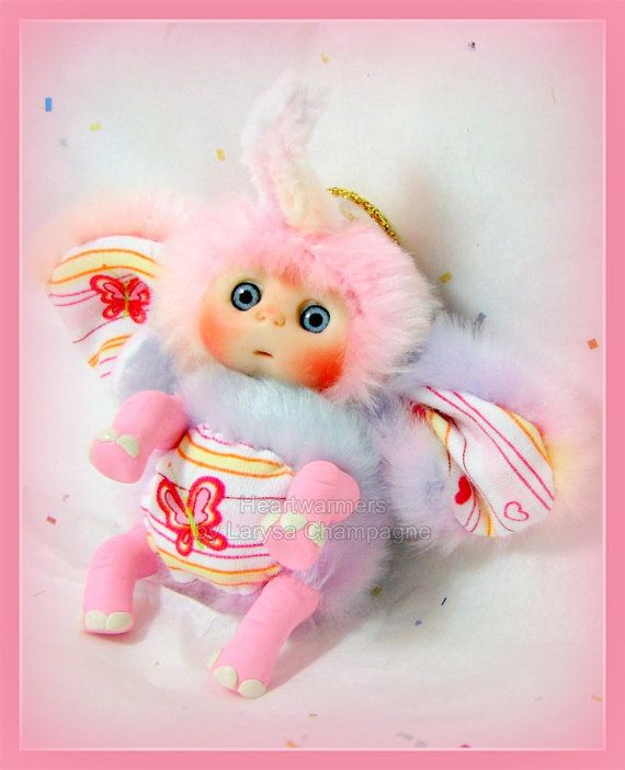 Pink  Elephant  Cute Baby Doll  Christmas  by larysadolls on Etsy, $27.00